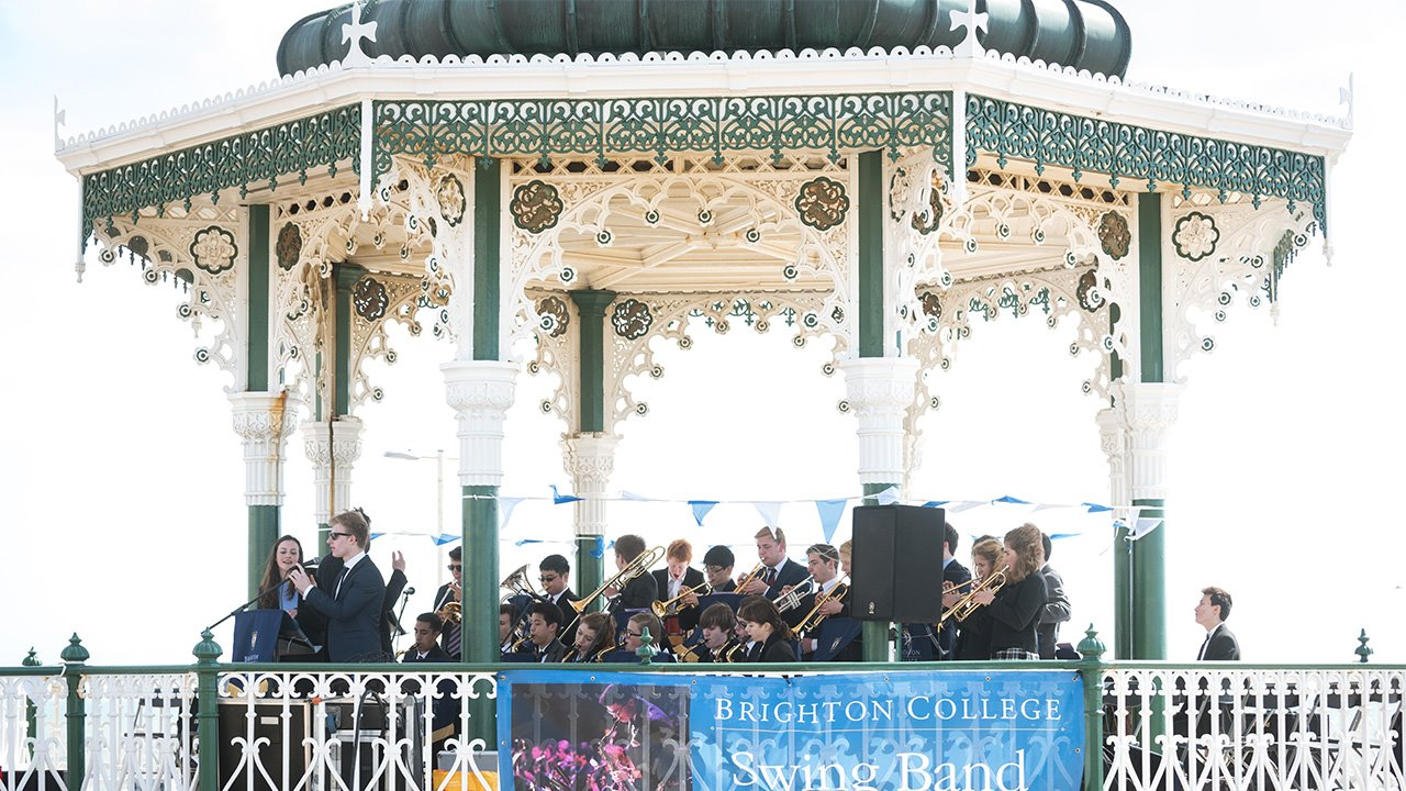 brighton-college-swing-band-performing-in-the-bandstand
